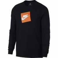 Tricou barbati Nike M Tee maneca lunga Futura Box HBR negru AJ3873 010