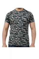 Tricou barbati SS Tshirt Digital Woodland Green Game