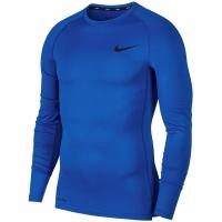 Mergi la Tricou Bluza cu maneca lunga Nike, For EXAMPLE, Tight albastru BV5588 480 pentru Barbati