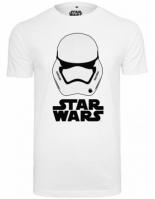 Tricou Casca Star Wars alb Merchcode