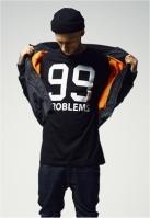 Tricou casual 99 Problems negru Mister Tee