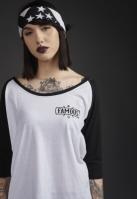 Tricou Chaos Patch pentru Femei alb-negru Famous
