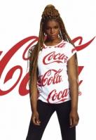 Tricou Coca Cola AOP pentru Femei alb Merchcode
