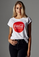Tricou Coca Cola Round Logo pentru Femei alb Merchcode