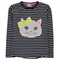 Tricou Crafted cu doua fete Sequin pentru fete pentru Bebelusi