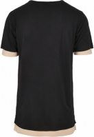 Tricou CSBL Deuces Long Layer negru-pale Cayler and Sons peach