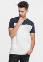 Tricou cu buzunar trei culori alb-gri carbune Urban Classics