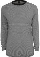 Bluze cu maneca lunga cu dungi negru-alb Urban Classics
