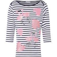 Tricou cu dungi Rose and Wilde Sienna cu Flamingo Print