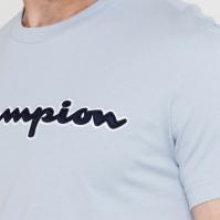 Tricou cu imprimeu Champion albastru bs063