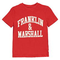 Tricou cu imprimeu Franklin and Marshall clasic Fit
