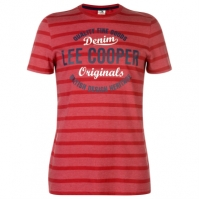 Tricou cu imprimeu Lee Cooper cu dungi pentru Barbati