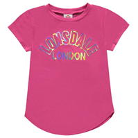 Tricou Lonsdale cu imprimeu mare Crew pentru fete