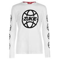 Tricou cu imprimeu Zukie Globe cu Maneca Lunga pentru Barbati