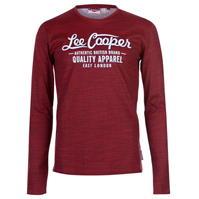 Tricou Lee Cooper cu Maneca Lunga AOP Textured pentru Barbati
