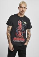 Tricou Deadpool Hey You negru Merchcode