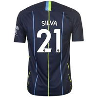 Tricou Deplasare Nike Manchester City David Silva 2018 2019