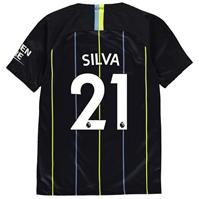 Tricou Deplasare Nike Manchester City David Silva 2018 2019 pentru copii