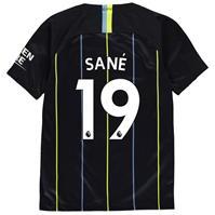 Tricou Deplasare Nike Manchester City Leroy Sane 2018 2019 pentru copii