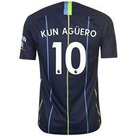 Tricou Deplasare Nike Manchester City Sergio Aguero 2018 2019