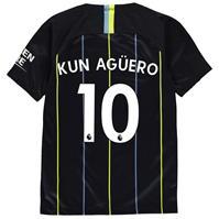 Tricou Deplasare Nike Manchester City Sergio Aguero 2018 2019 pentru copii