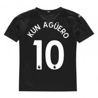 Tricou Deplasare Puma Manchester City Sergio Aguero 2020 2021 pentru copii