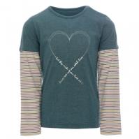 Tricou echitatie Double Sleeve pentru fete
