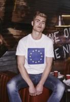 Tricou Europe alb Mister Tee