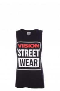 Tricou femei Crew Vest Black Vision Street Wear