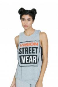 Tricou femei Crew Vest Grey Vision Street Wear