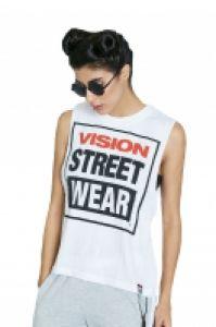 Tricou femei Crew Vest White Vision Street Wear