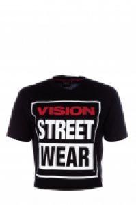 Tricou femei Cropped Black Vision Street Wear