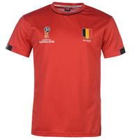Tricou FIFA World Cup Russia 2018 Belgium Poly pentru Barbati