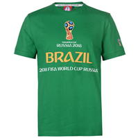Tricou FIFA Cupa Mondiala 2018 Rusia Brazil imprimeu Graphic pentru Barbati
