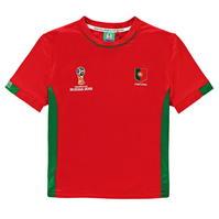 Tricou FIFA Cupa Mondiala 2018 Rusia Portugalia Poly pentru copii