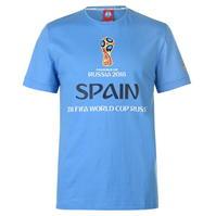 Tricou FIFA Cupa Mondiala 2018 Rusia Spania imprimeu Graphic pentru Barbati