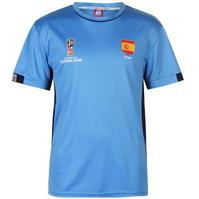 Tricou FIFA Cupa Mondiala 2018 Rusia Spania Poly pentru Barbati