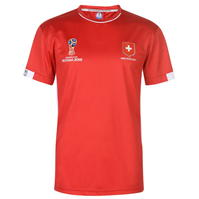 Tricou FIFA Cupa Mondiala 2018 Rusia Elvetia Poly pentru Barbati