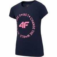 Tricou For 4F bleumarin HJL20 JTSD013B 31S pentru fete