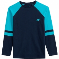 Tricou For cu Maneca Lunga 4F bleumarin HJL20 JTSML002 31S baiat