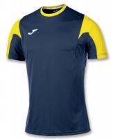 Tricou fotbal Estadio Joma bleumarin-galben cu maneca scurta