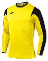 Tricou fotbal Estadio Joma galben-negru cu maneca lunga