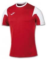 Tricou fotbal Estadio Joma rosu-alb cu maneca scurta
