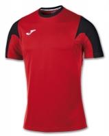 Tricou fotbal Estadio Joma rosu-negru cu maneca scurta