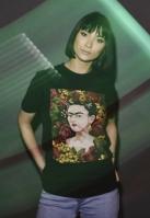 Tricou Frida Kahlo Portrait pentru Femei negru Merchcode
