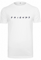 Tricou Friends Logo EMB alb Merchcode