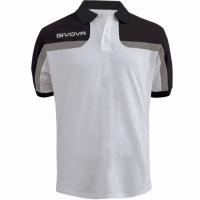 Tricouri polo Givova Spring, alb and negru barbati