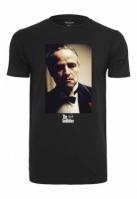 Tricou Godfather Portrait negru Merchcode
