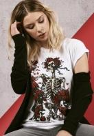Tricou Grateful Dead Rose pentru Femei alb Merchcode