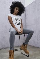 Tricou GRL PWR pentru Femei alb Mister Tee